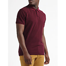 Buy Scotch & Soda Micro Diamond Polo, Red Online at johnlewis.com