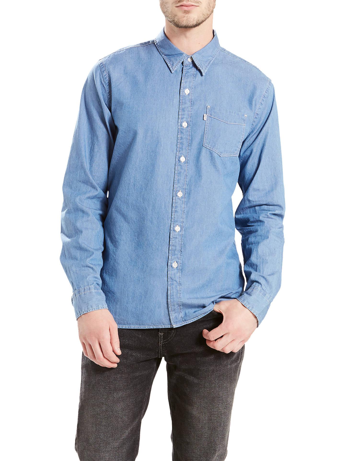 BuyLevi's Sunset 1 Pocket Shirt, Flat Stone, M Online at johnlewis. ...