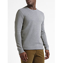 Buy Scotch & Soda Classic Crew Neck Jumper, Grey Melange Online at johnlewis.com