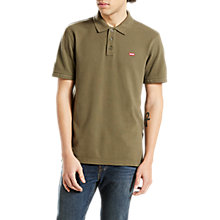 Buy Levi's Solid Polo Top, Olive Night Online at johnlewis.com