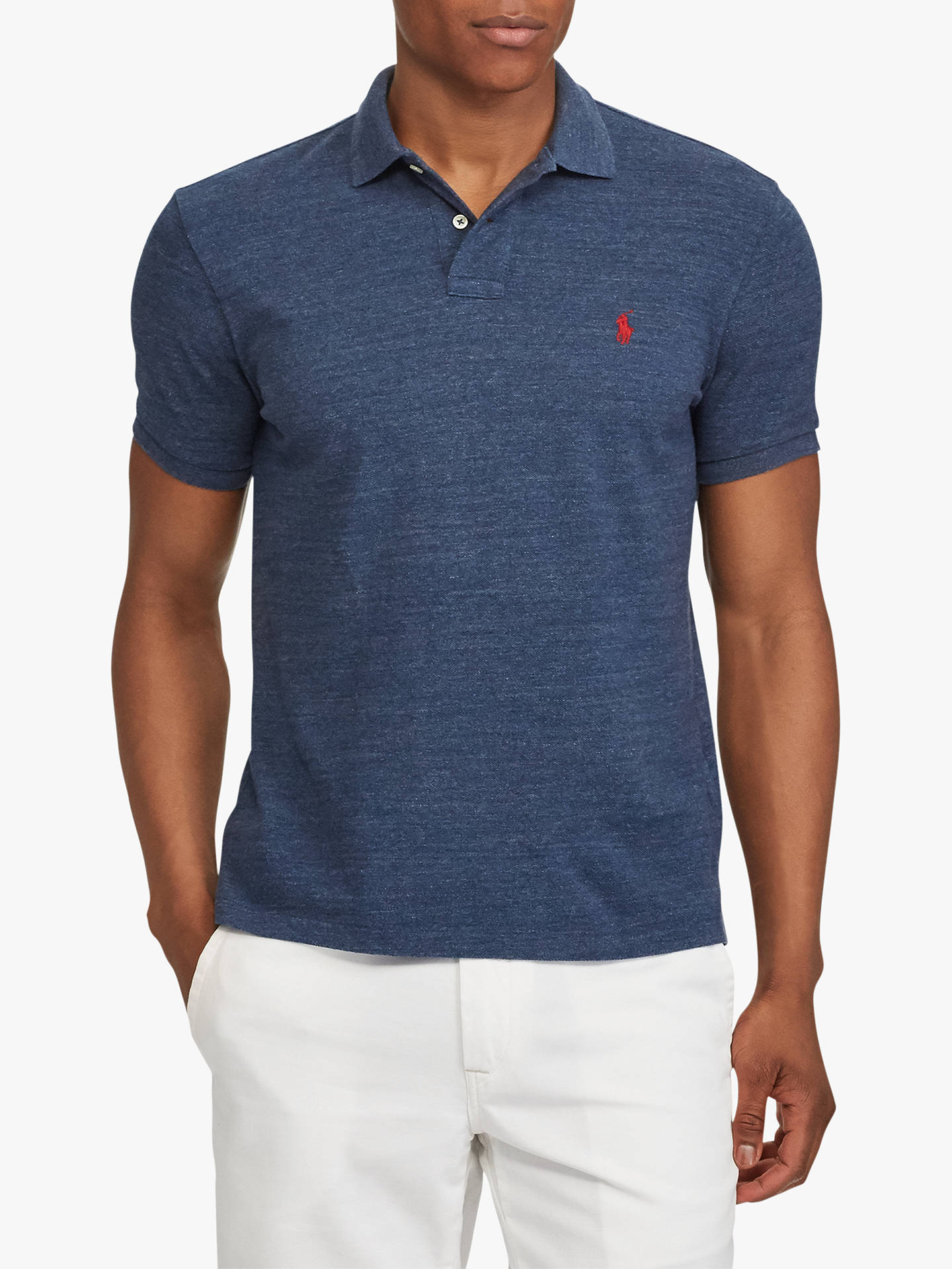 14c9796d Buy Polo Ralph Lauren Short Sleeve Custom Slim Polo Shirt, Classic Royal  Heather, S ...