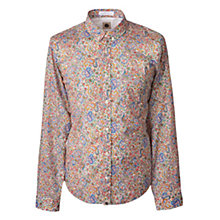 Buy Pretty Green Calborne Paisley Long Sleeve Shirt, White Online at johnlewis.com