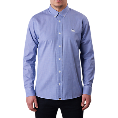 Pretty Green Hendry Gingham Shirt, Blue