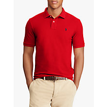Buy Polo Ralph Lauren Slim Fit Polo Top, Red Online at johnlewis.com