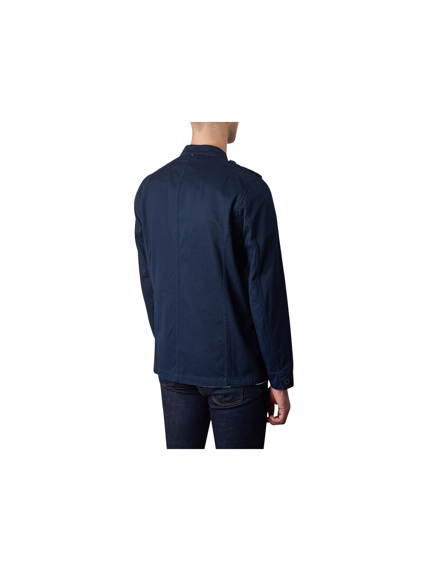 a3c368ce0308 ... Buy Pretty Green Langford Military Jacket, Navy, S Online at  johnlewis.com ...
