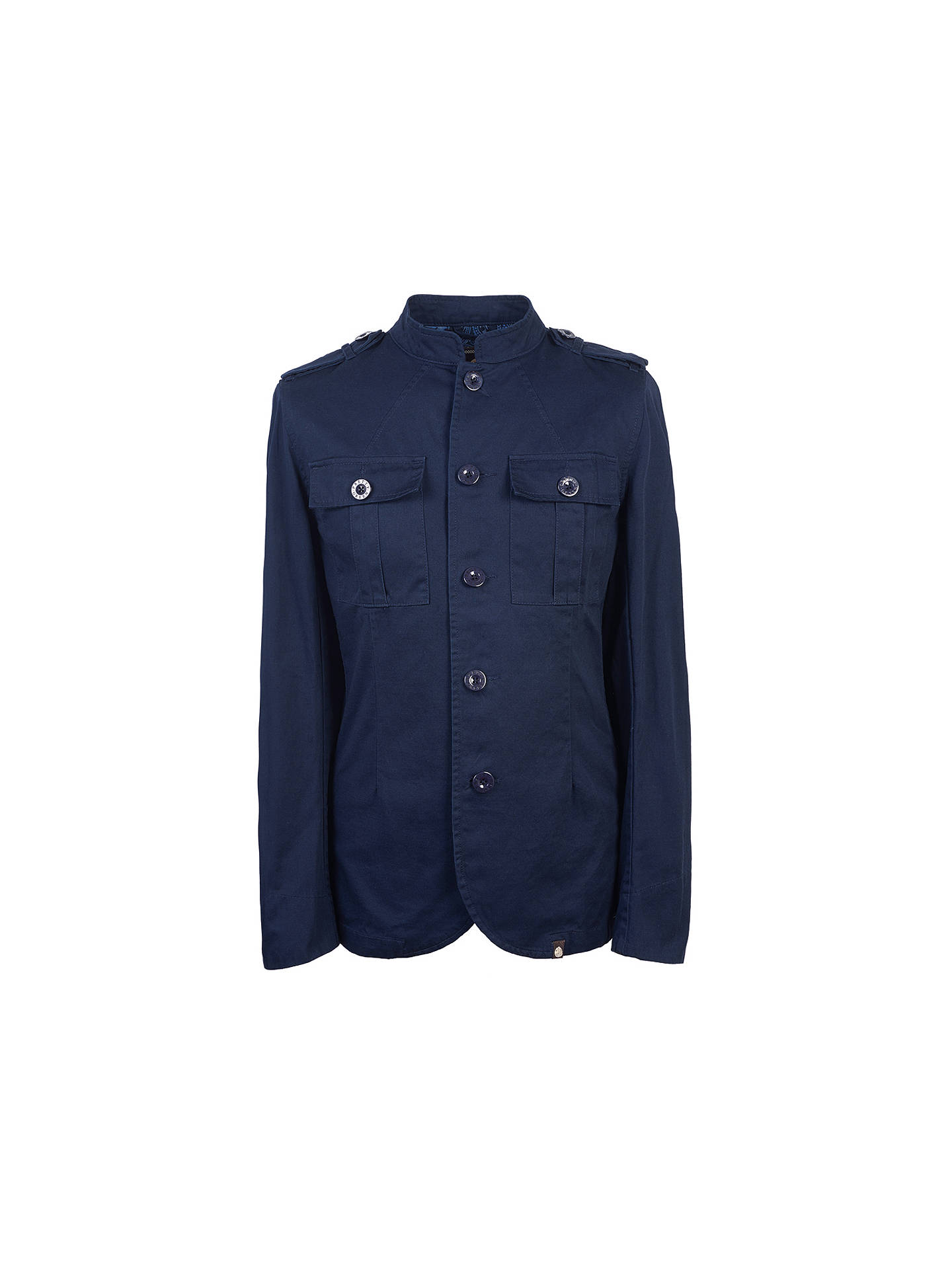 590ab961a934 ... Buy Pretty Green Langford Military Jacket, Navy, S Online at  johnlewis.com