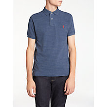 Buy Polo Ralph Lauren Slim Fit Polo Shirt, Classic Royal Heather Online at johnlewis.com