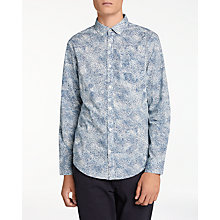 Buy Original Penguin Long Sleeve Spray Print Shirt, Dark Sapphire Online at johnlewis.com