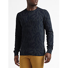 Buy Scotch & Soda Palm Graphic Jersey Top, Blue Online at johnlewis.com