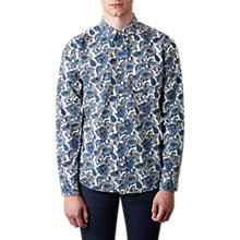 Buy Pretty Green Kingly Paisley Shirt, White/Multi Online at johnlewis.com