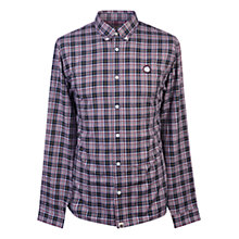 Buy Pretty Green Instow Check Shirt, Navy Online at johnlewis.com