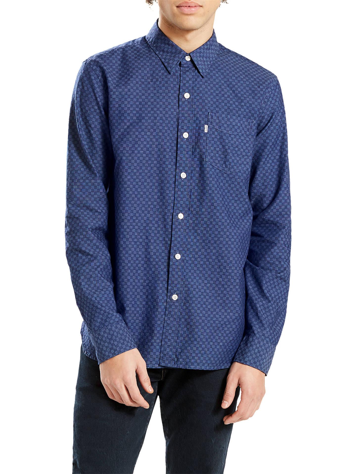 BuyLevi's Sunset 1 Pocket Shirt, Caspia Indigo, S Online at johnlewis. ...