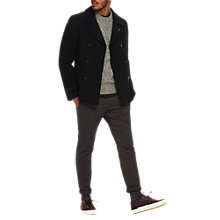 Buy Scotch & Soda Double Breasted Caban Peacoat, Night Online at johnlewis.com
