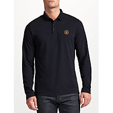 Buy Scotch & Soda Long Sleeve Pique Polo Top, Night Online at johnlewis.com