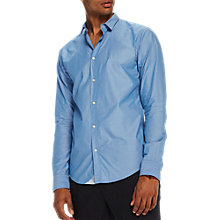 Buy Scotch & Soda Long Sleeve Poplin Shirt, Blue Online at johnlewis.com