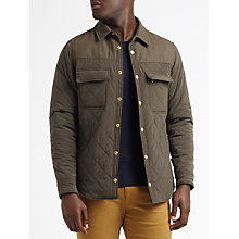 Buy Scotch & Soda Contrast Panelled Quilted Jacket, Army Online at johnlewis.com