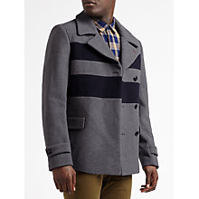Buy Scotch & Soda Double Breasted Caban Peacoat, Graphite Melange Online at johnlewis.com