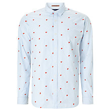 Buy Scotch & Soda Star Stripe Long Sleeve Shirt, Blue Online at johnlewis.com