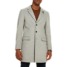 Buy Scotch & Soda Epsom Long Classic Coat, Light Grey Melange Online at johnlewis.com
