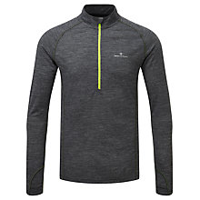 Buy Ronhill Infinity Merino Blend 1/2 Zip Long Sleeve Running Top, Grey/Yellow Online at johnlewis.com