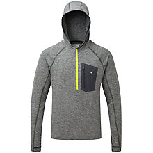 Buy Ronhill Momentum Victory Half-Zip Running Hoodie, Grey/Yellow Online at johnlewis.com