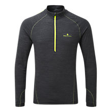 Buy Ronhill Stride Long Sleeve Crew Neck Running T-Shirt, Charcoal Online at johnlewis.com