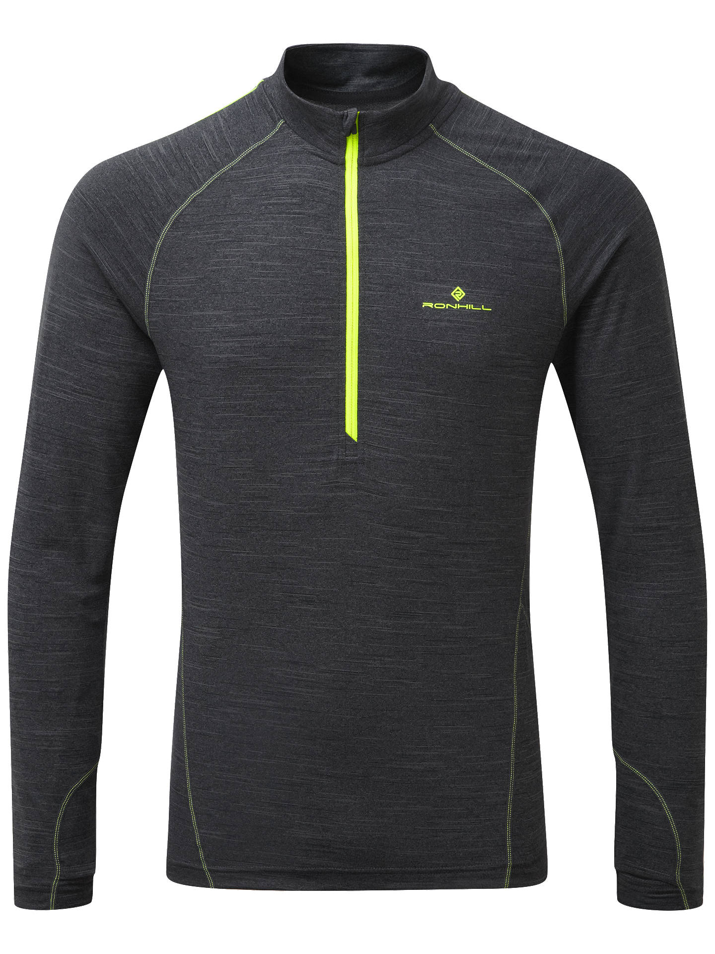 BuyRonhill Stride Thermal 1/2 Zip Long Sleeve Running Top, Charcoal, S Online at johnlewis.com
