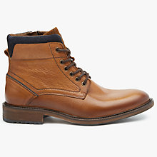 Buy John Lewis Workman Leather Boots, Tan Online at johnlewis.com