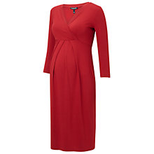 Buy Isabella Oliver Gracia Maternity Dress, Red Online at johnlewis.com