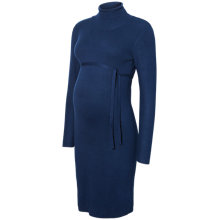 Buy Mamalicious Jacina Roll Neck Knit Maternity Dress, Navy Online at johnlewis.com