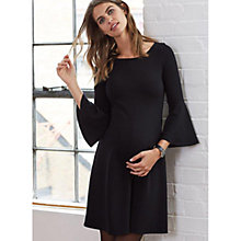 Buy Isabella Oliver Natalia Kick Maternity Dress, Caviar Black Online at johnlewis.com
