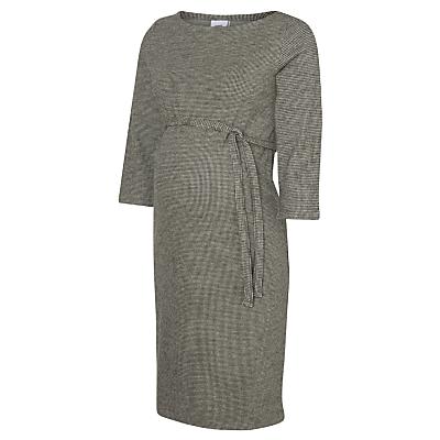Mamalicious Tartan 3/4 Jersey Maternity Dress, Grey