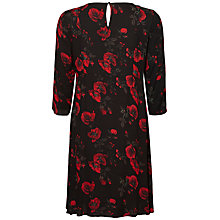 Buy Mamalicious Romance Flower Print Maternity Dress, Black Online at johnlewis.com