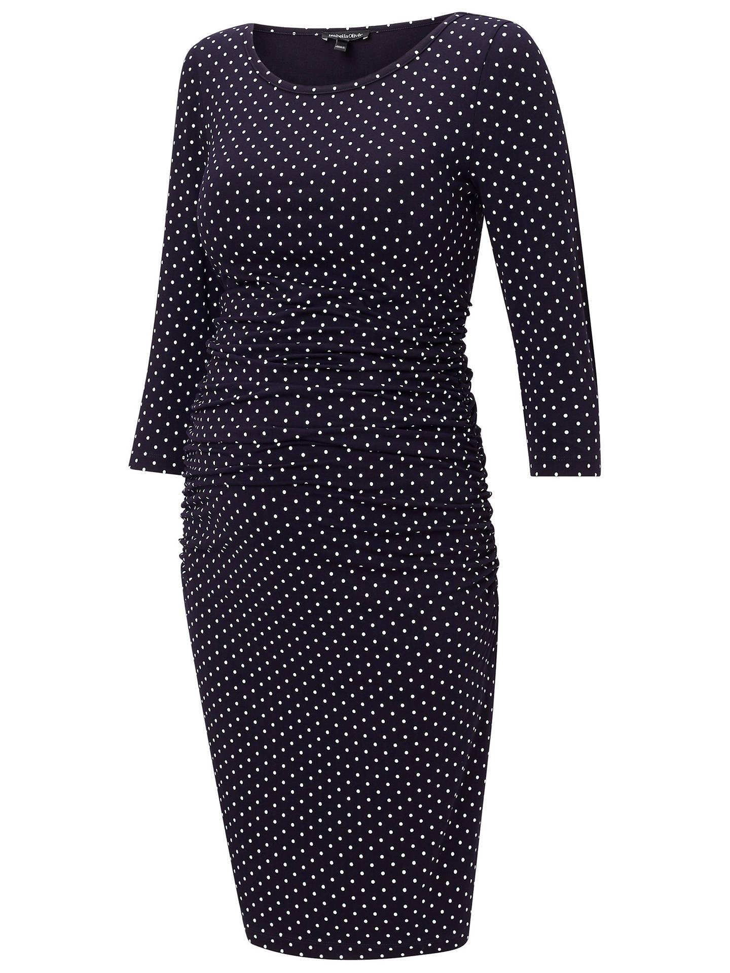 360a5e721fd16 Buy Isabella Oliver Jennifer Maternity Dress, Navy, 8 Online at  johnlewis.com