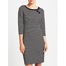 Buy Gerry Weber Stripe Jersey Dress, Navy/White Online at johnlewis.com