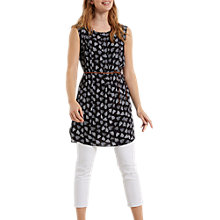 Buy White Stuff Hibiscus Heart Tunic Vest, Black Online at johnlewis.com