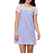 Buy Yumi Two Tone Front Pocket Tunic, Blue Online at johnlewis.com
