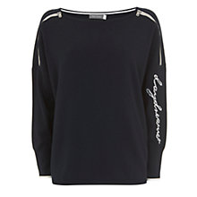 Buy Mint Velvet Daydreamer Boxy Knit, Dark Blue Online at johnlewis.com