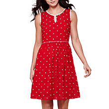 Buy Yumi Sleeveless Spot Dress, Red Online at johnlewis.com