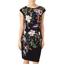 Buy Precis Petite Embroidered Shift Dress, Black/Multi Online at johnlewis.com