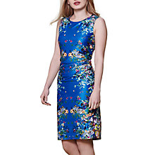 Buy Yumi Floral Mirrored Jersey Dress, Blue Online at johnlewis.com
