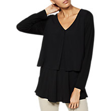 Buy Mint Velvet Double Layer Swing Top, Black Online at johnlewis.com