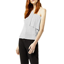 Buy Warehouse Foil Plisse One Shoulder Top Online at johnlewis.com