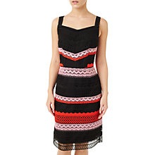 Buy Precis Petite Stripe Lace Dress, Multi Black Online at johnlewis.com