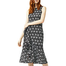 Buy Warehouse Monochrome Lace Dress, Black/White Online at johnlewis.com