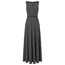 Buy Precis Petite Woven Stripe Maxi Dress, Multi Black Online at johnlewis.com