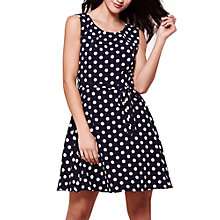 Buy Yumi Spot Print Skater Dress, Navy Online at johnlewis.com