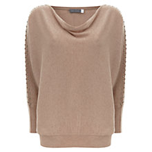 Buy Mint Velvet Stud-Sleeve Batwing Jumper, Neutral Online at johnlewis.com
