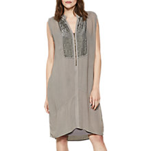 Buy Mint Velvet Sequin Bib Cocoon Dress, Neutral Online at johnlewis.com