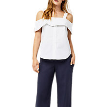 Buy Warehouse Button-Through Cotton Cami, White Online at johnlewis.com